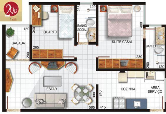 Plano de vivienda en 62 m2 planos de casas gratis y for Planos de viviendas gratis