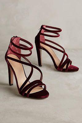 Burgundy strappy sandals