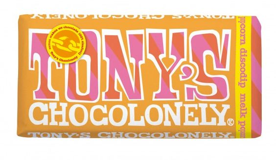 Tony's chocolonely popcorn discodip💛