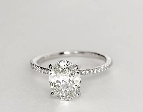 1.24ct I-SI1 Oval Diamond Engagement Ring Fine Jewelry 900,000 GIA certified diamonds JEWELFORME BLUE