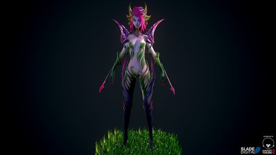 Zyra Rise of Thorns, Slade Digital on ArtStation at https://www.artstation.com/artwork/zyra-rise-of-thorns
