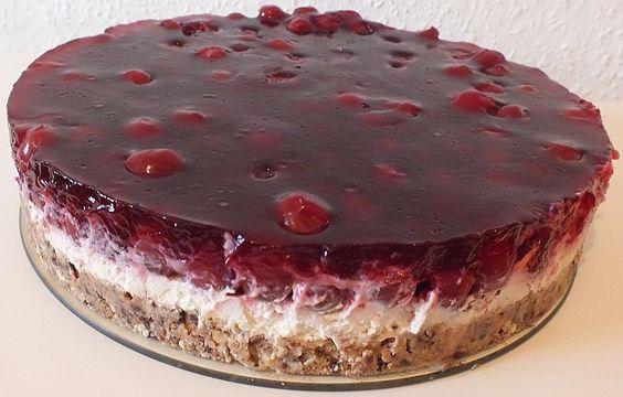 Prinzenrolle - Torte mit Kirschen (Rezept mit Bild)   Chefkoch.de