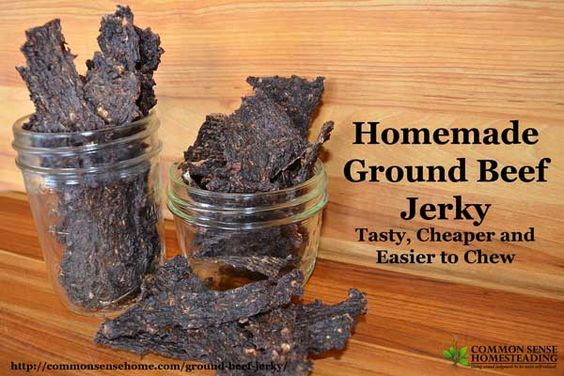 Homemade beef jerky and ground beef jerky recipe on pinterest for What can you cook with ground beef