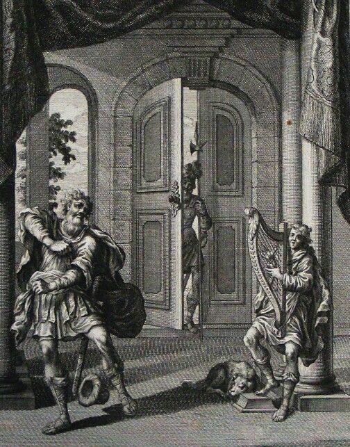 119. David plays to Saul on the harp. 1 Samuel cap 16 v 23. Heuman