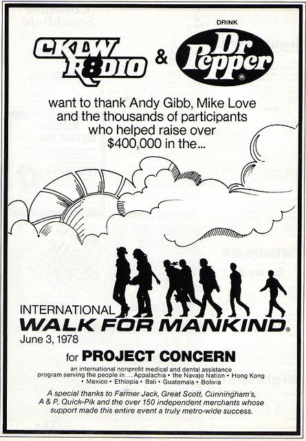 Walk for Mankind-I still remember the forms we got for these each year where we had to get sponsors to sign up. - MCBL