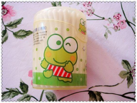 sanrio keroppi cartoon cartoon big eyes frog Packed swab swabs - Taobao