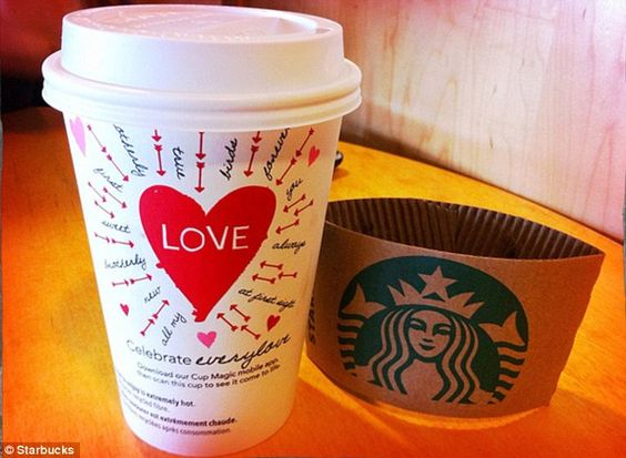 Love and lattes: In honor of Valentine's Day, Starbucks has teamed up with Match.com to throw the 'World's Largest Date' at its participating locations on February 13