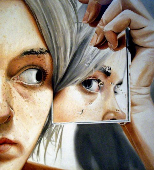 Made by: Linnea Strid - Strid likes to paint in a photo realistic style, but always with the strong desire to convey an odd feeling, a forgotten memory, or maybe just something that is typical of her own little world.: