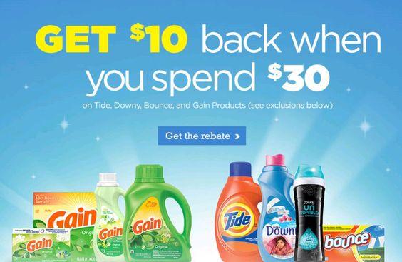 $10 Rebate wyb $30 in Select P