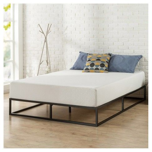 The Sturdy 10 Inch Platform Metal Bed Frame By Zinus Is Designed For Strength And Style Perfect For High Profile Mattresses Or T Platform Bed Frame Bed Frame Target Bed Frames