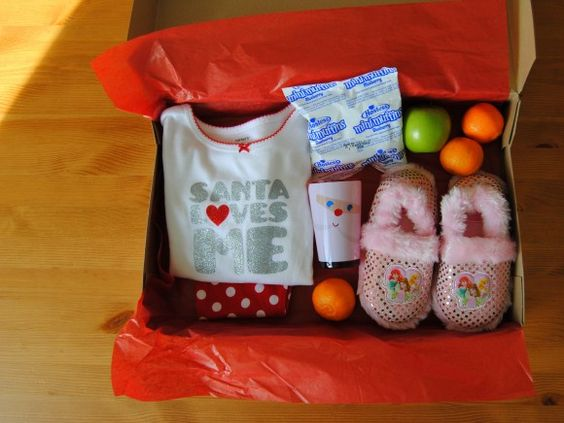 healthy christmas eve box with fruit