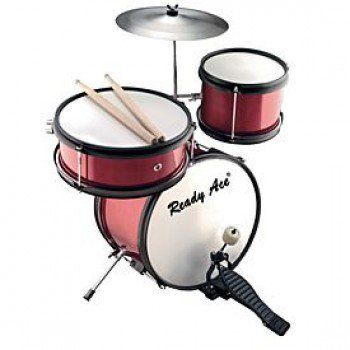 Junior Professional Drum Set Red 4 Piece - Red Alert - Online Shopping at The…