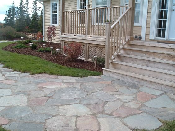 Natural Flagstone Walkway Natural Stone Pinterest