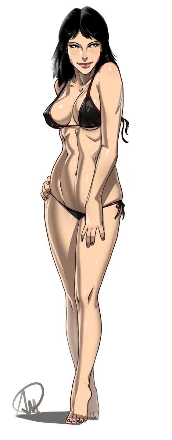 Rebecca Crane swimsuit ver. by Ganassa.deviantart.com on @DeviantArt