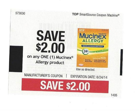 Mucinex Allergy Product ~06/24/2014 ~ $2.00 on ONE (1)
