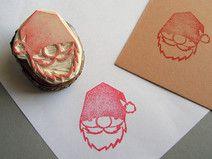 Stempel Weihnachtsmann handgeschnitzt