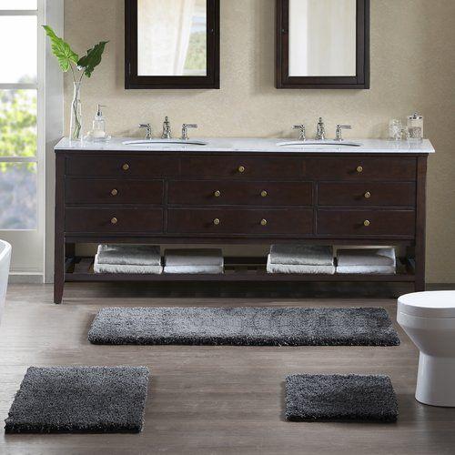 Grande Rectangular Polyester Non Slip Solid Bath Rug Reversible Bath Rugs Bath Rugs Sets Bath Rug