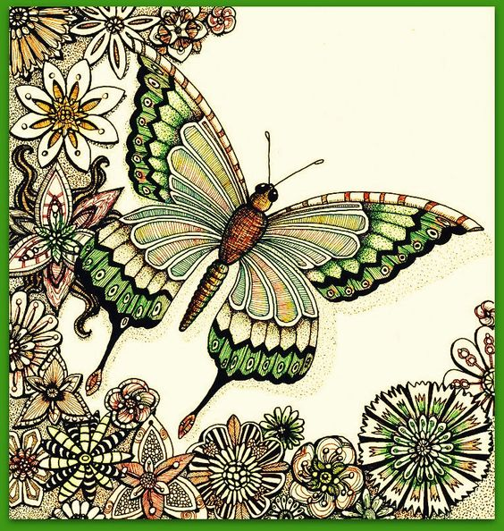 whimsical flowers coloring pages - photo#36
