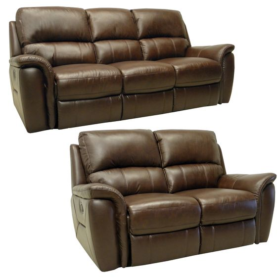 Best Porter Brown Italian Leather Reclining Sofa And Loveseat 400 x 300