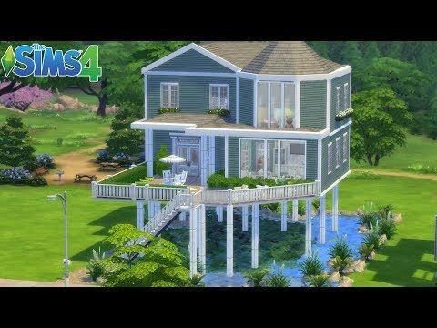 Sims 4 Maison Sur L Eau Sims 4 Maison Maison Sims Sims