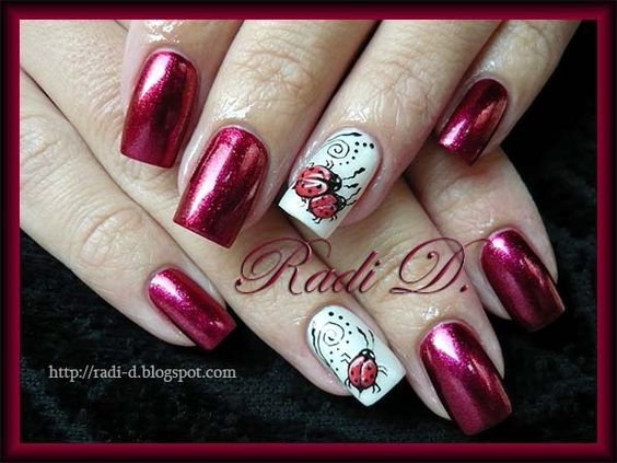 3D Ladybugs :) - Nail Art Gallery by NAILS Magazine