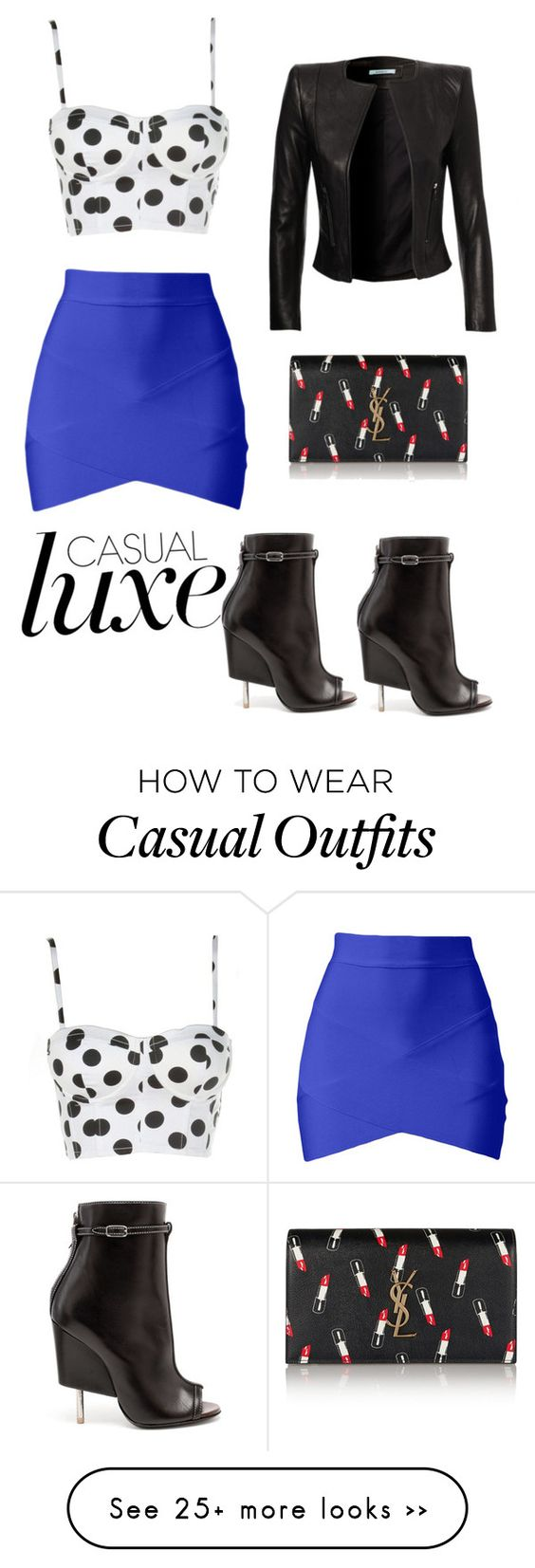 """Casual Luxe"" by iamkoko on Polyvore featuring moda, Givenchy y Yves Saint Laurent"