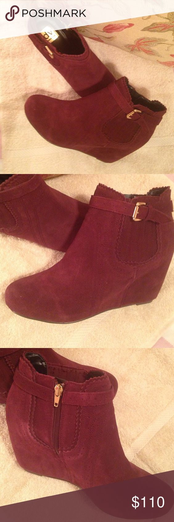 ⚡️New Price⚡️ Dolce Vita Bootie Bordeaux Suede Boots Dolce Vita Shoes Ankle Boots & Booties