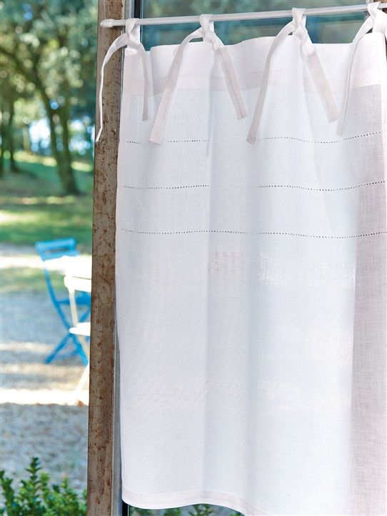 Brise bise en lin blanc couture maison pinterest - Brise bise lin ...