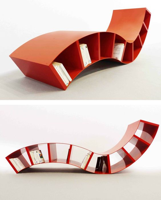Open double-sided #bookcase BOABOOK by Thomas de Lussac Design
