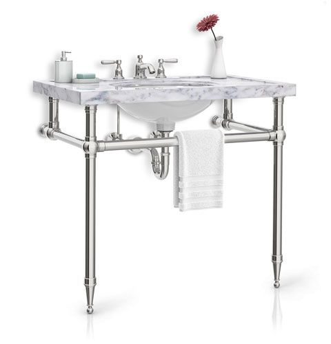 Palmer Industries sink legs. Custom sizes and finishes and feet options. Ordered through Ferguson