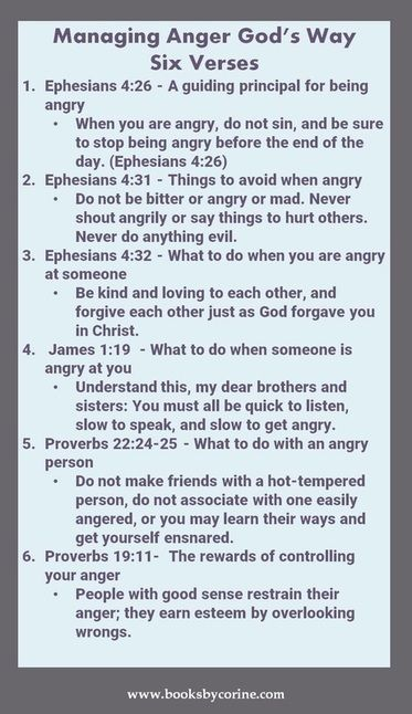 Managing Anger God's Way  #anger #anger management #angerbook Gary Chapman Taming a Powerful Emotion Anger management for Kids. Biible verses anger:
