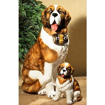 Intrada Small Saint Bernard Dog Ceramic Statue for $158.95 #CozyDays #HomeDecor #HomeGarden