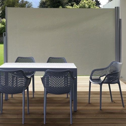 Sunnydaze Indoor Outdoor Retractable Privacy Wall Side Awning With Steel Support Pole 10 X 6 Feet Choose Si Privacy Wall Outdoor Sunnydaze Decor Privacy Walls