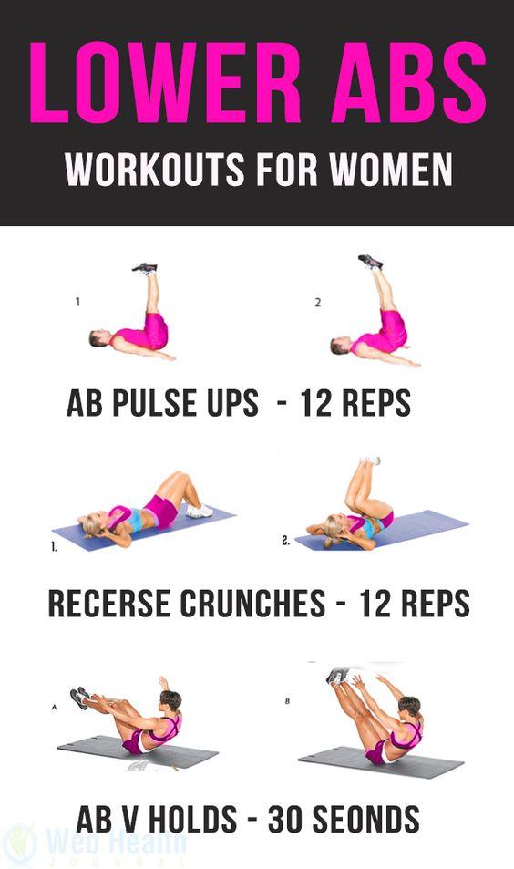 Untere Bauchmuskeln für Frauen