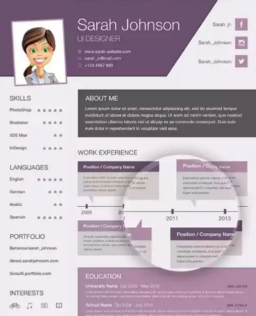Download 35 Free Creative Resume   CV Templates - XDesigns CV - free creative resume templates download