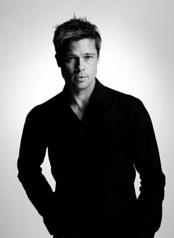 Brad Pitt ~ He has always been one of my top celebrity crushes; first, because his acting is amazing... he can say so much with just his facial expressions. And second, do I even need to say it?... He's GORGEOUS!