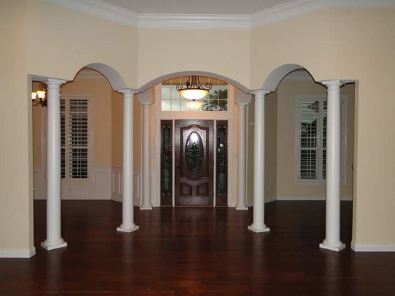 Columns inside homes columns interior custom homes by for Columns inside house