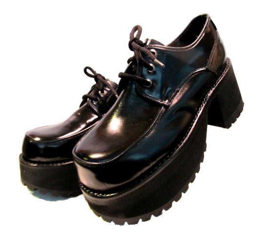 RESERVED For (dattebay000): Mens Muro Platform Shoes Black Leather ...