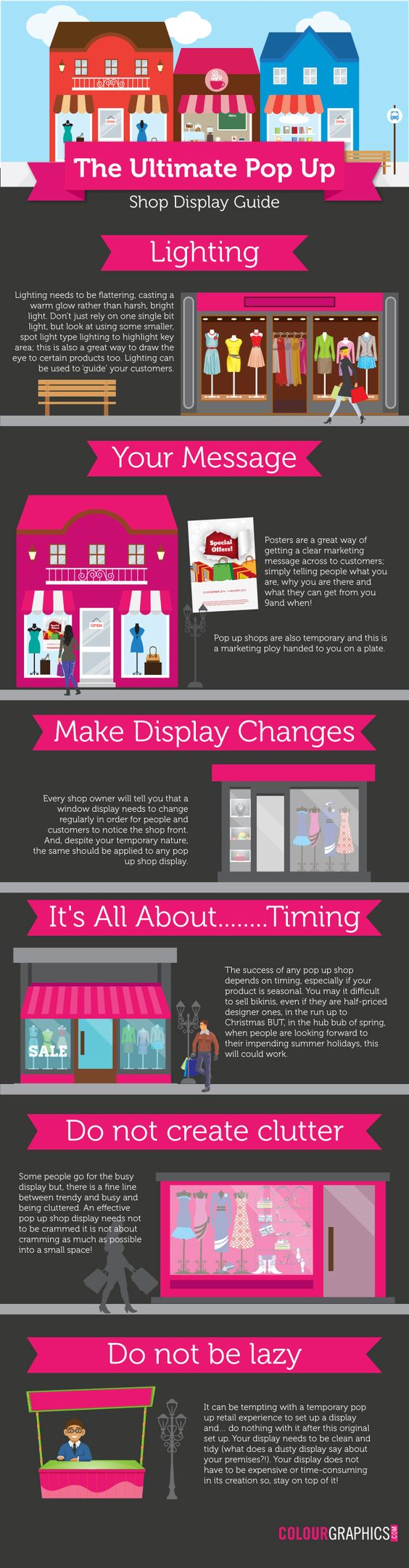 The Ultimate Pop Up Shop Display Guide #infographic #Business