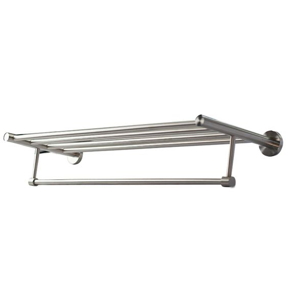 Our Quadruple Towel Rack with a convenient hanging bar. All made from 304 Stainless Steel.