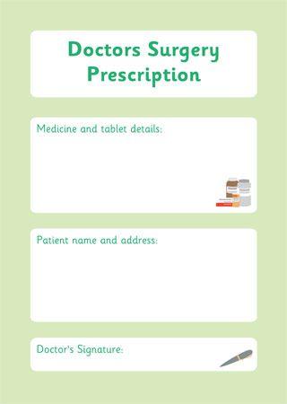 Prescription Form – Doctor's Surgery Role Play | Doc Mcstuffins ...