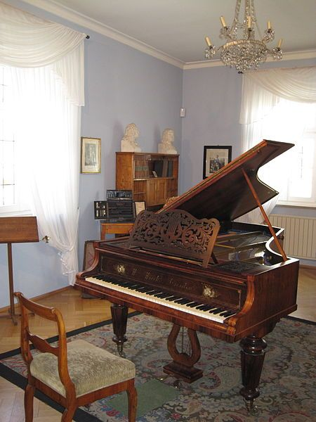 Music Room of Robert Schumann...if I could choose any grand, it would be this one.
