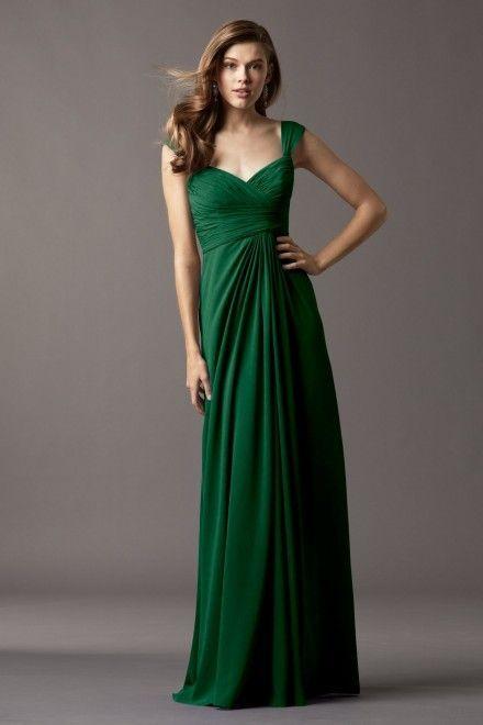 Vestido de madrinha esmeralda