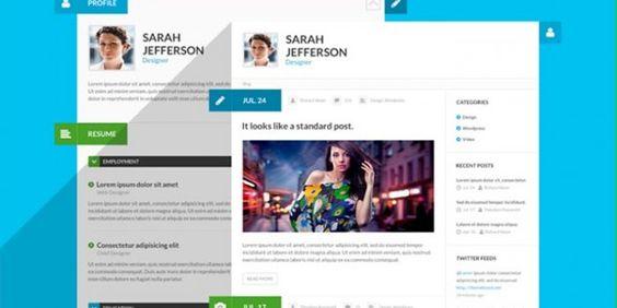 20 Creative Resume Website Templates to Improve Your Online - resume website template