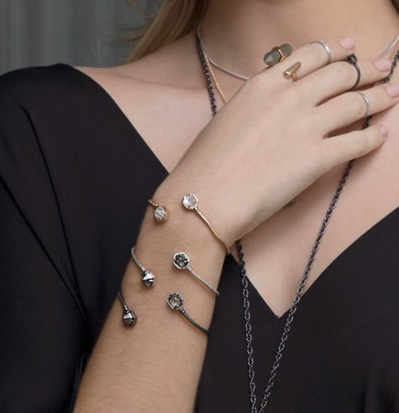Serpentine, Bookended Multi-Stone Cuff Bracelets