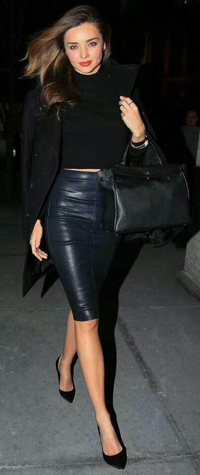 How to rock a leather skirt! Sexy!!!