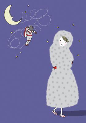O principe encantado da Júlia demora mais tempo a chegar porque ficou preso na lua e ainda não sabe desapertar nós.