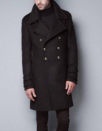 MILITARY STYLE COAT - Coats - Man - ZARA | My Style | Pinterest