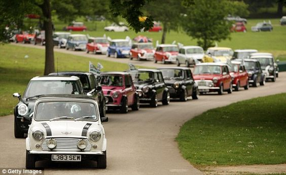 Mini crocodile: A line of Minis make their way through Crystal Palace Park