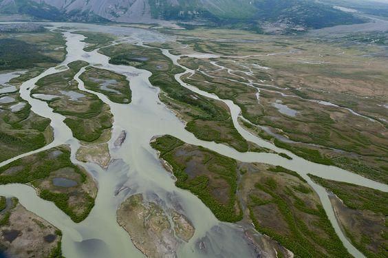 Glacial rivers in Kluane National Park, Yukon, Canada